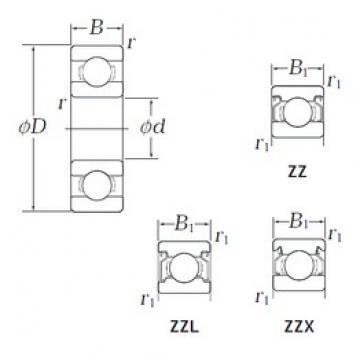 KOYO WOB69 ZZX deep groove ball bearings