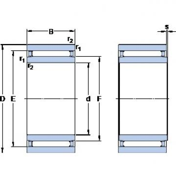 SKF NAO 17x35x16 cylindrical roller bearings