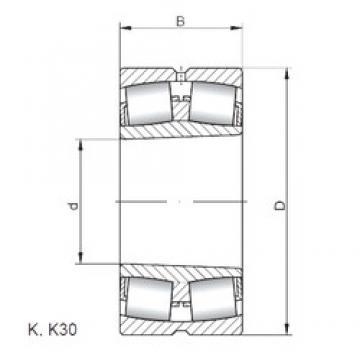 ISO 230/1000 KW33 spherical roller bearings