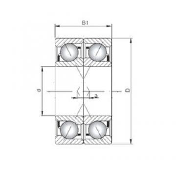 ISO 71921 CDF angular contact ball bearings