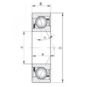 ISO 7004 C angular contact ball bearings