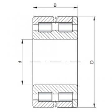 ISO NNC4868 V cylindrical roller bearings