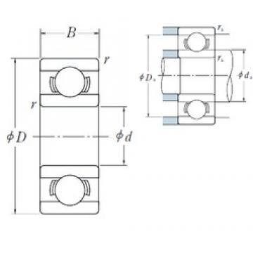 NSK MR41 X deep groove ball bearings