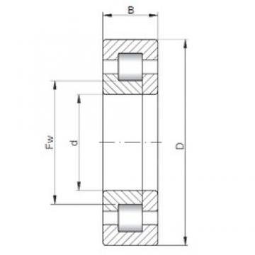 ISO NUP407 cylindrical roller bearings