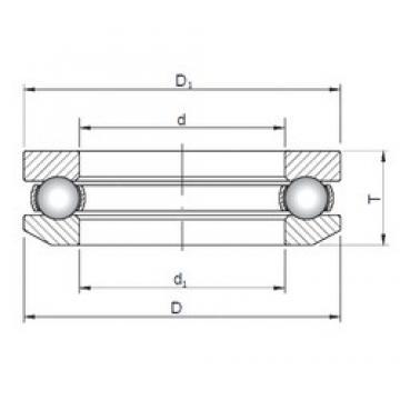 ISO 53406 thrust ball bearings