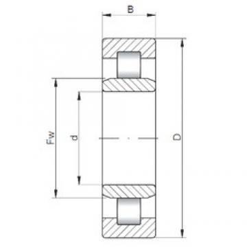 ISO NU308 cylindrical roller bearings