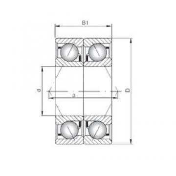 ISO 7060 BDB angular contact ball bearings