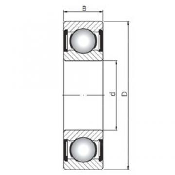 ISO 61809 ZZ deep groove ball bearings