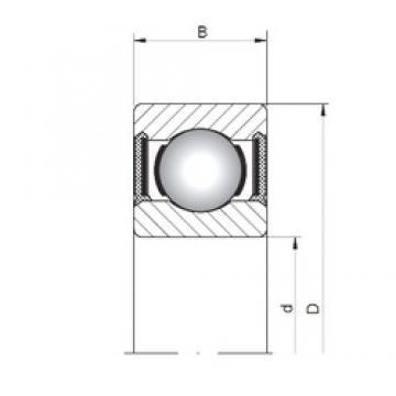 ISO 60/2,5-2RS deep groove ball bearings