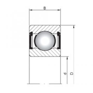 ISO 618/2 ZZ deep groove ball bearings
