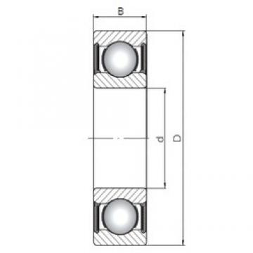 ISO 62214-2RS deep groove ball bearings