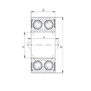 ISO 30/7-2RS angular contact ball bearings