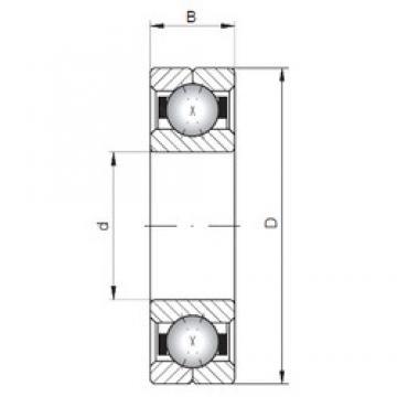 ISO Q1096 angular contact ball bearings