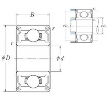 NSK R22ZZ deep groove ball bearings