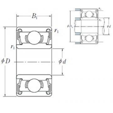 NSK 637 DD deep groove ball bearings