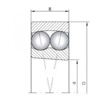 ISO 2308K self aligning ball bearings