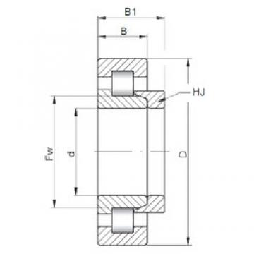 ISO NH324 cylindrical roller bearings