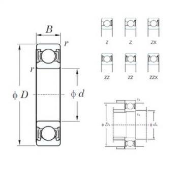 KOYO 6306ZZ deep groove ball bearings