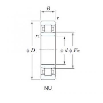 KOYO NU407 cylindrical roller bearings