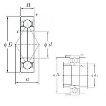 KOYO 6222BI angular contact ball bearings