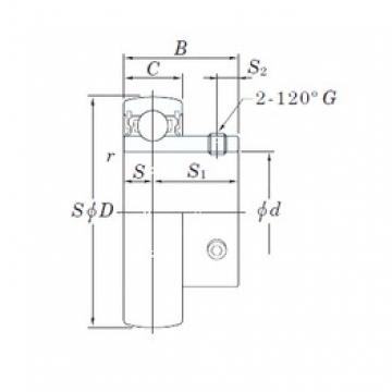KOYO UC206-20L2 deep groove ball bearings