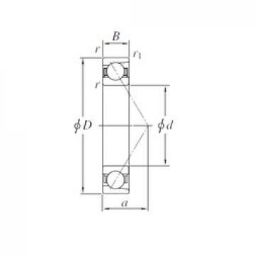 KOYO 7240B angular contact ball bearings