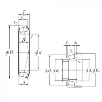 KOYO EE134100/134143 tapered roller bearings