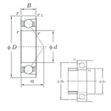 KOYO 7412 angular contact ball bearings