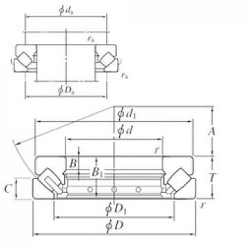 KOYO 29268R thrust roller bearings