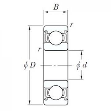 KOYO SV 6000 ZZST deep groove ball bearings