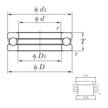 KOYO 51312 thrust ball bearings