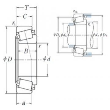 NSK 25578/25523 tapered roller bearings