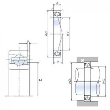 NSK 80BER19X angular contact ball bearings