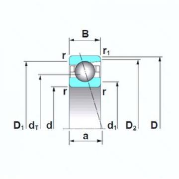 NSK 7222A5TRSU angular contact ball bearings