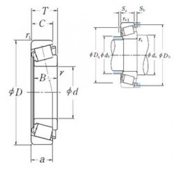NSK HR30317DJ tapered roller bearings