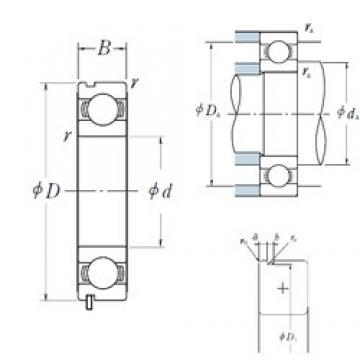 NSK 6807N deep groove ball bearings