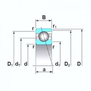 NSK 7910A5TRSU angular contact ball bearings