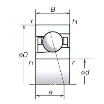 NSK 12BGR19S angular contact ball bearings