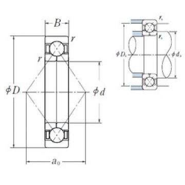 NSK QJ 224 angular contact ball bearings