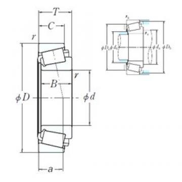 NSK EE640191/640260 cylindrical roller bearings