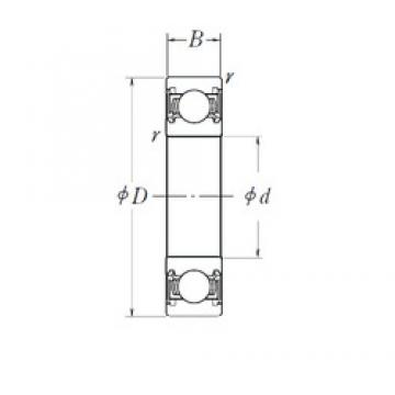 NSK 6008DDU deep groove ball bearings