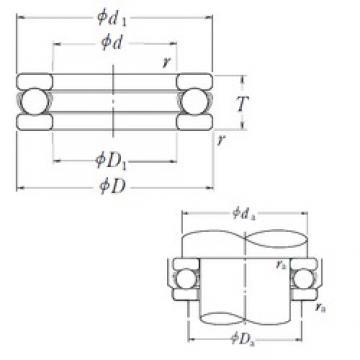 NSK 51156X thrust ball bearings