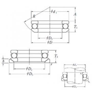 NSK 53416U thrust ball bearings