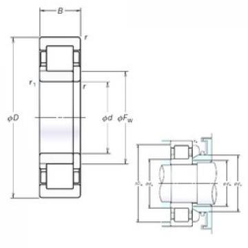 NSK NUP2336EM cylindrical roller bearings