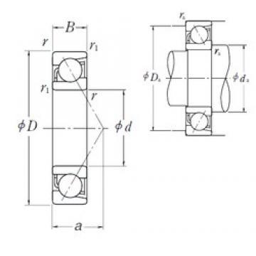 NSK 7306 B angular contact ball bearings