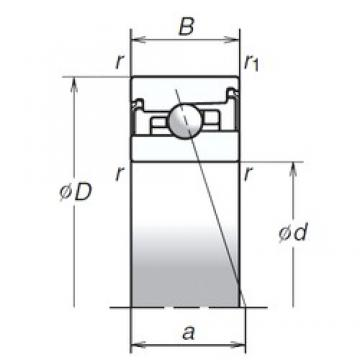 NSK 70BER20XV1V angular contact ball bearings