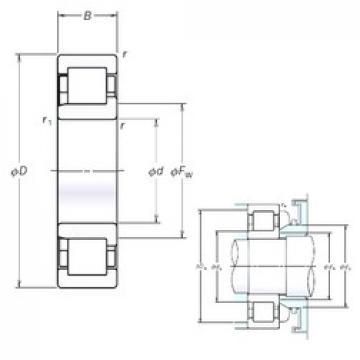 NSK NJ222EM cylindrical roller bearings