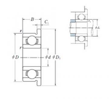 NSK MF128 deep groove ball bearings