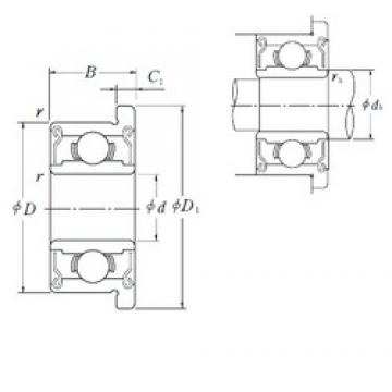 NSK F687ZZ1 deep groove ball bearings