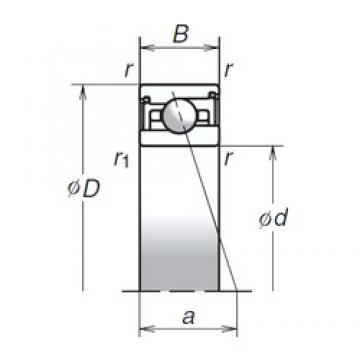 NSK 75BER29SV1V angular contact ball bearings